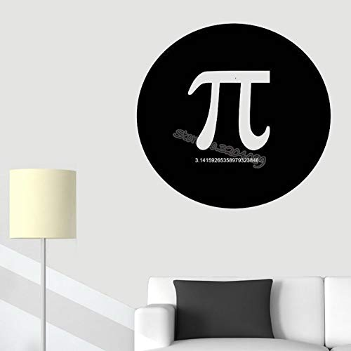 zqyjhkou Pi Math Wall Sticker Decor School Classroom Mural Numbers Symbol Quotes Decal eon Teach Science Nerd Geek Poster 42x42cm