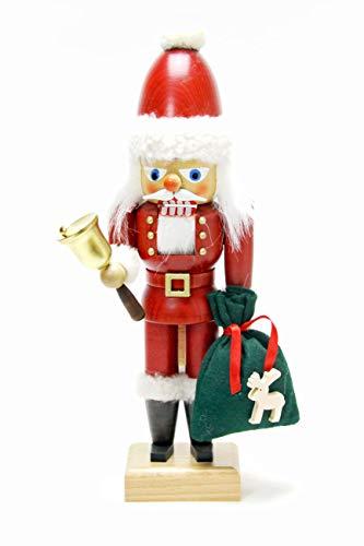 Nutcrackers Nussknacker Weihnachtsmann mit Glocke - 30,5cm - Original Erzgebirge - Christian Ulbricht