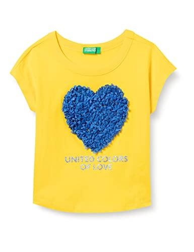 United Colors of Benetton (Z6ERJ T-Shirt 3I1XC14J2, Giallo 3N7, 1Y Bimba