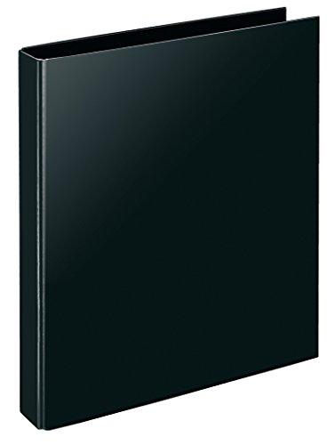 Veloflex 4143280 Ringbuch VELOCOLOR Classic, Ordner, Ringordner, 4-Ring-Mechanik, DIN A4, Karton, schwarz