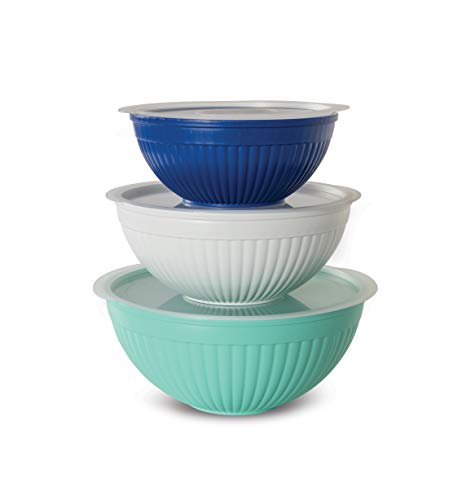 Nordic Ware Covered Bowl Set, 6-pc, Set of 6, Coastal Colors
