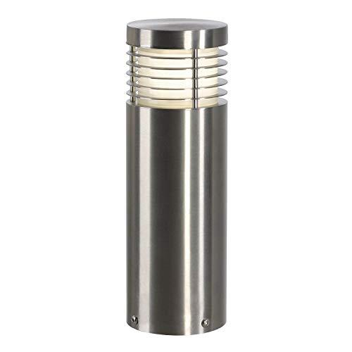 SLV Luminaire d'Extérieur LED VAP SLIM 30   Rond, lampadaire d'Extérieur   Design en Inox pour Eclairage d'Extérieur Raffiné   borne, Potelet Borne Lumineuse Extérieur, Eclairage d'entrée, Lampe de Jardin   E27, A - A++