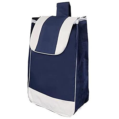 SDYL Bolsa de repuesto plegable para carrito de compras, portátil, impermeable, bolsa de repuesto reutilizable, 56 x 32 x 20 cm
