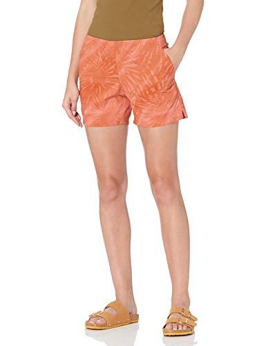 Columbia Women's Plus Size Sandy River II Short, Breathable, Sun Protection, Salmon Tonal Sunburst Print, 3X x 6