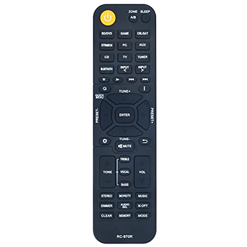 Replacement Remote Control Controller for Onkyo AV Receiver TX-SR393 TX-SR494 HT-R398 HT-S3910