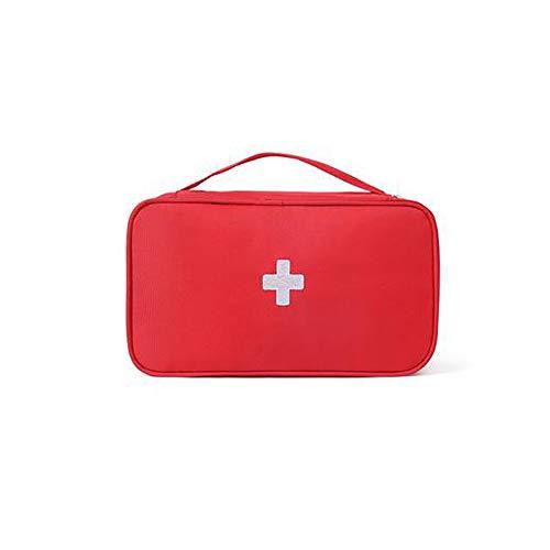 Leere medizinische Aufbewahrungstasche Haushalt Hygienebeutel leer Camping Outdoor Mini tragbar Sport Reise Erste Hilfe Kit rot