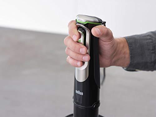 Braun-MultiQuick-9-MQ-Stabmixer–mit-Active-PowerDrive-und-SplashControl-inkl-Puerierstab-Gemuesestampfer-Mixer-Zerkleinerer-Schneebesen-1200-Watt-schwarzEdelstahl