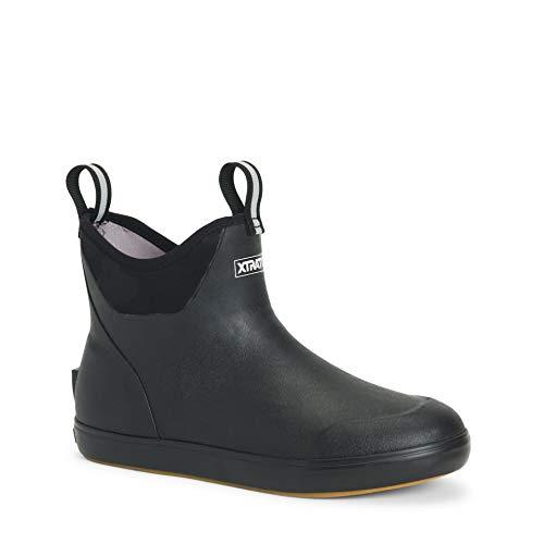 Xtratuf Men's 6 in Ankle Deck Boot Black Camo 11