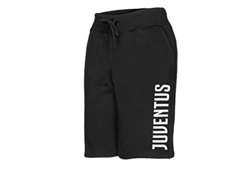Bermuda Offizielle Juventus Juve Herren Erwachsene Hose kurz Overall Shorts Short, Schwarz , in cm.lunghezza 53,da cavallo 27-L