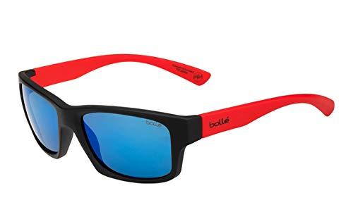 bollé Unisex– Erwachsene Holman Floatable Sonnenbrillen Medium, Black Red Matte
