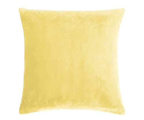 pad - Kissenhülle - Kissenbezug - Smooth - Samt - Yellow/gelb - 50 x 50 cm