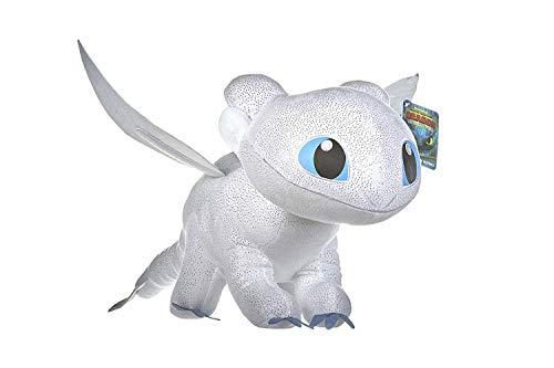 """Dragons Peluche Drago Furia Buia Bianca Colore Con Brillante Qualità Super Soft 11'80""""/30centimeter (40 Centimeter Con Coda Inclusa)"""