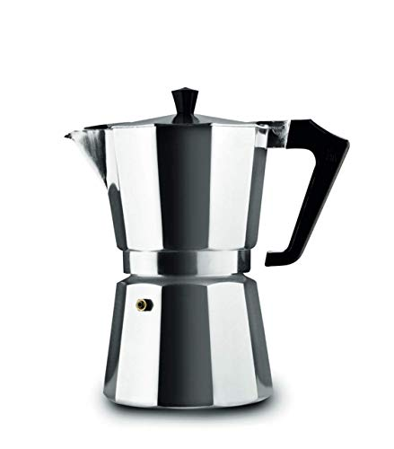 Pezzetti Stove Top Moka Pot 6 cup, Black
