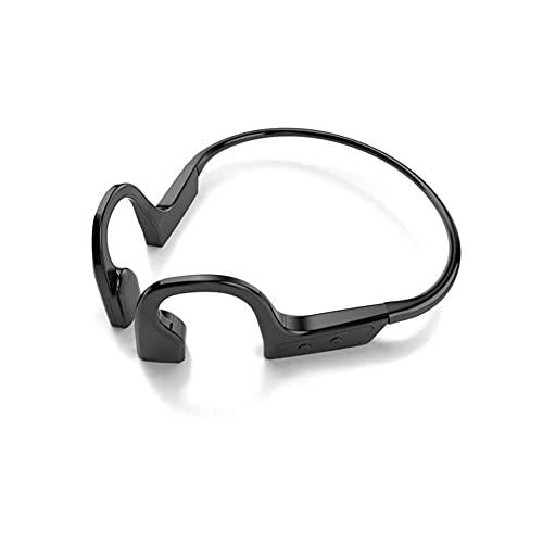 XJPB Auriculares de conducción ósea Bluetooth Wireless Bluetooth 5.1 Auriculares Abiertos de Deportes con micrófono IPX7 Titanio Impermeable para Correr Deportes Fitness,Negro