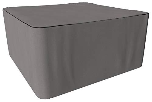 SORARA Housse de Protection Hydrofuge pour Table Carré | Gris | 200 x 200 x 90 cm