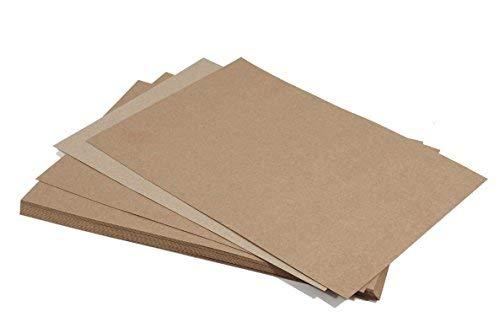 50 Blatt Sand-Braun Kraftpapier DIN A4 210x297 mm, 170g Bastel-Karton, ECO ÖKO Vintage natur- braunes Kartonpapier, ideal für Weihnachten, Geburtstag, Scrapbooking, Hochzeits-Karten, Menü-Karten