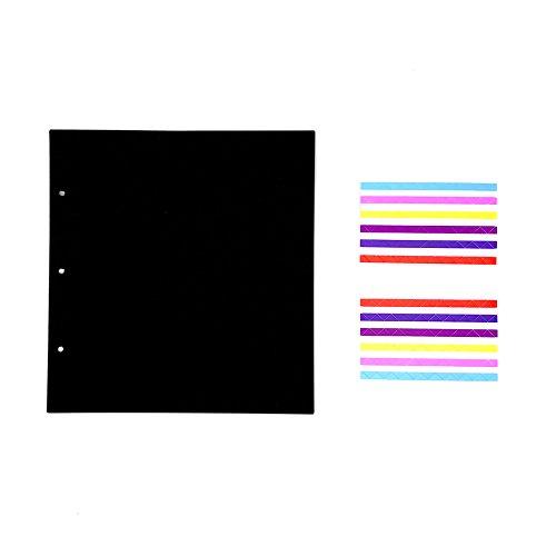 ThxMadam Fotoalbum Zwart Papier 25x23,5CM, 20 Stks Extra Vulling Pagina's Binnen Pagina's voor Plakboek 26x26CM, voor Abum 'Paardebloem A'