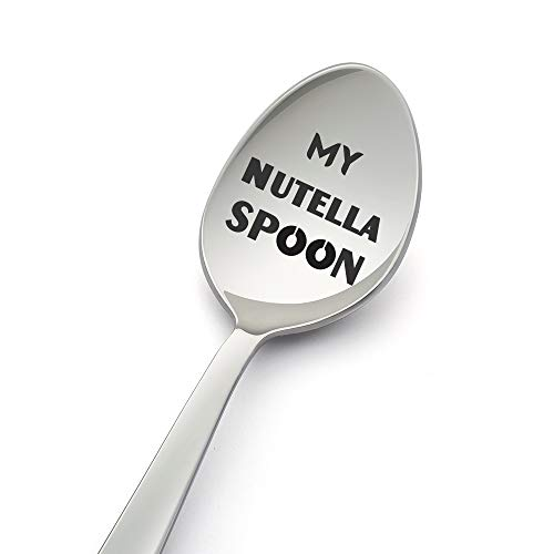 My Nutella Spoon-8 Inch Spoon Designed for Nutella Lover-Gift Under £10- Gifts for Him/Gifts for Her-Perfect Gift for a Sweet Tooth