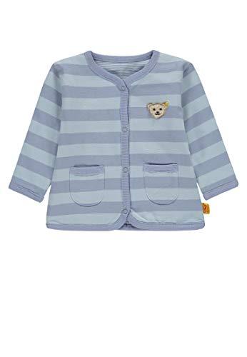 Steiff Steiff Unisex Baby wendbar Sweatjacke, Blau (Baby Blue Blue 3023), 62