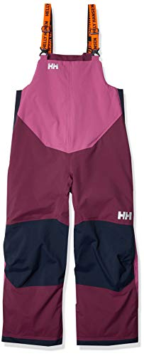 Helly-Hansen Kids' Little Rider 2 Insulated Waterproof Windproof Breathable Bib Ski Pants, 657 Purple Potion, Size 8