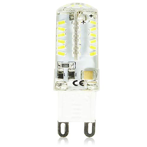 Koel wit 6000 K, G9 LED-lamp, 4,5 watt, AC220 V te gebruiken voor de lampen, die in fittingen G9 worden bevestigd, decoratieve verlichting van tafellamp. (een stuk)