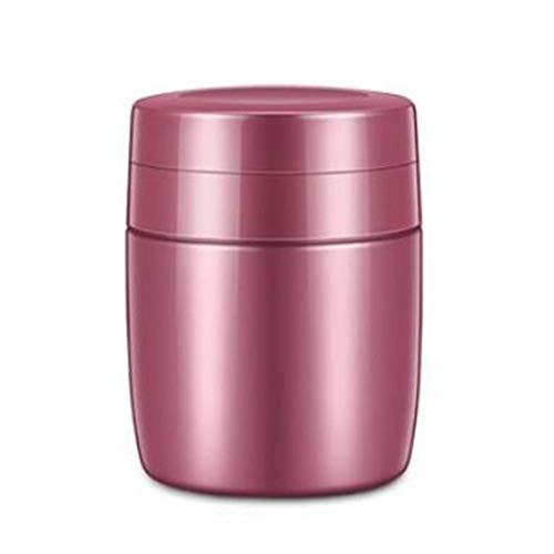 Eten Thermos, Lek-proof RVS geïsoleerde voedsel Fles Soup geschikt for studenten en kinderen (Color : Pink, Size : 380ml)