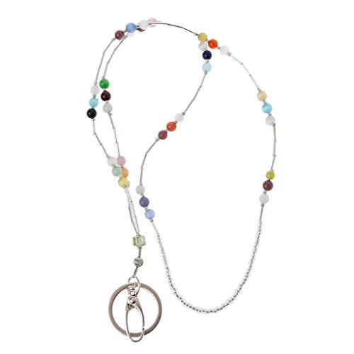 holilest Cordón, Llaves de Moda Cordones con Cuentas Coloridos Collares Cordón de identificación Insignia Cadena de joyería