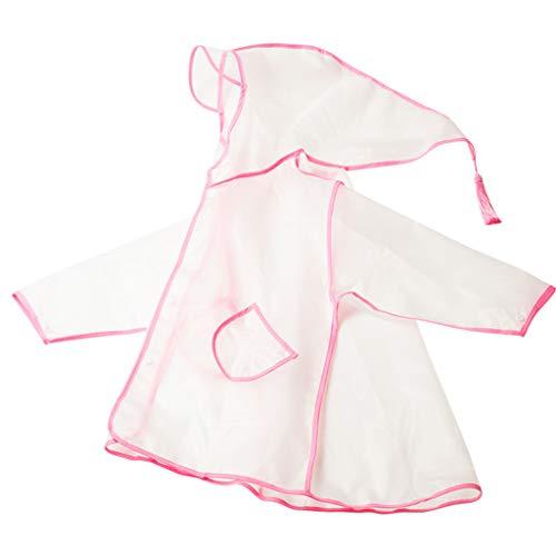 YXNN kinderen regenjas leeftijd 2-10 doorschijnende lichtgewicht regenjas jongen meisje outdoor spelen winddicht waterdichte Poncho met hoed