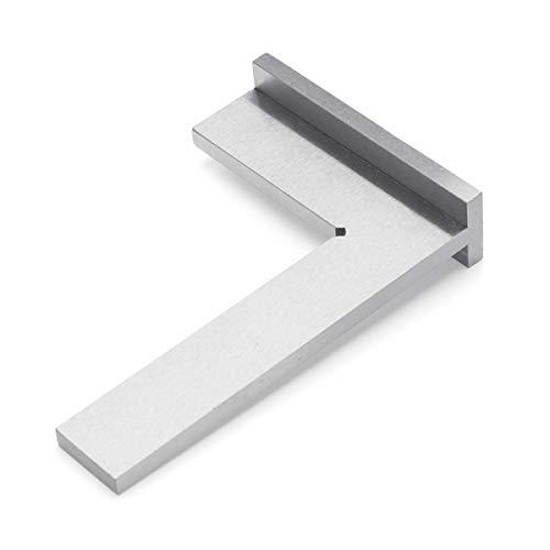 ZOYOSI 100x70mm DIN875-2 ángulo esquina regla cuadrada 90 grados ancho base medidor carpintería herramienta