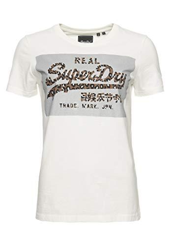 Superdry Damen Vintage Logo Reflective Box T-Shirt Ecru 36