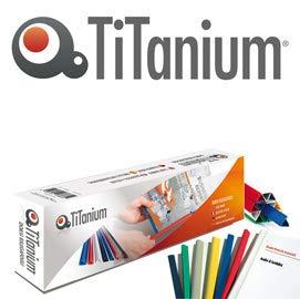 Titanium 81412 Dorso Rilegafogli, Bianco, 4 mm