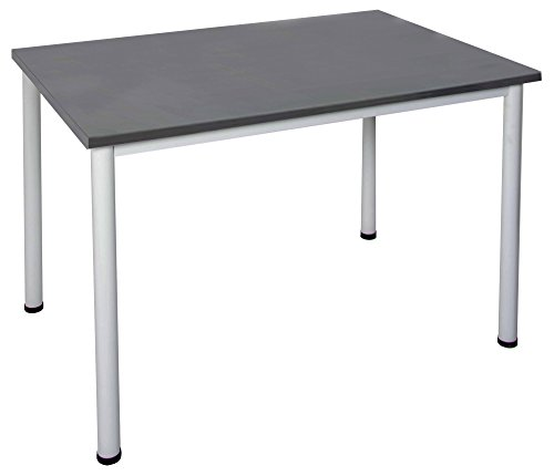 Schreibtisch in verschiedenen Größen und Farben graues Metallgestell Konferenztisch Besprechungstisch Arbeitstisch Universaltisch Bürotisch...