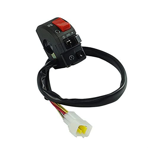 Control Interruptor Manillar Interruptores de Motocicleta 22 mm Motorbike Botón Botón Botón Señal Lámpara de Niebla eléctrica Luz de Inicio Start Manillar Controlador Interruptor De La Motocicleta