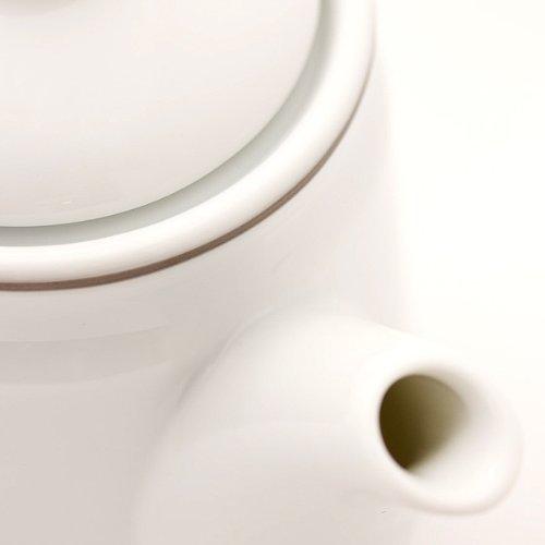 ロンドンティールーム『茶こし付きティーポット陶器製ロゴ入』