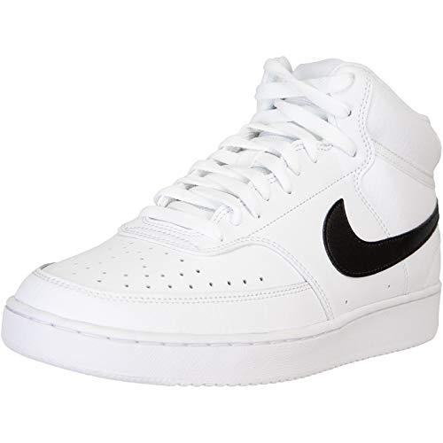 Nike Zapatillas Court Vision Mid, color Blanco, talla 43 EU