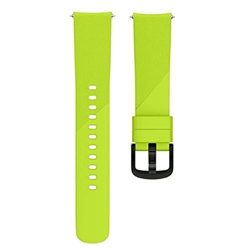 Correa de reloj de 22 mm compatible con Samsung Galaxy Watch de 46 mm/Gear S3 Frontier, correa de repuesto deportiva de silicona suave para hombres y mujeres