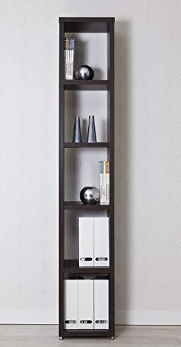 Top Kit | Estanteria Florencia 6501 | Medidas 36,5 x 208 x 33,5 cm | Estantería Libros | Estantería Decorativa | Wengue