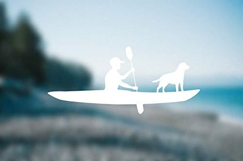CELYCASY Calcomanía Personalizada para Kayak o Kayak Totalmente Personalizable con Perro o Diciendo