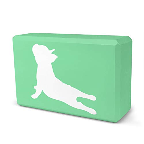 CZZD French Bulldog Yoga Yoga Block High Density EVA Foam Non-Slip Yoga Pilates Bricks, 9 X 6 X 3 Inch