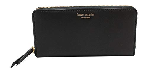 Kate Spade New York Cameron Saffiano Leather Zip Around Large Continental Wallet Black 2019