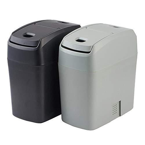 weichuang Tragbarer Treteimer abnehmbare Deckel Ist Auto-Abfall Abfalleimer Fahrzeug Mülleimer Box Car-Styling Müll Box Staubfall-Halter-Auto-Abfall-Innenausstattung Hanging Abfalleimer Klapp