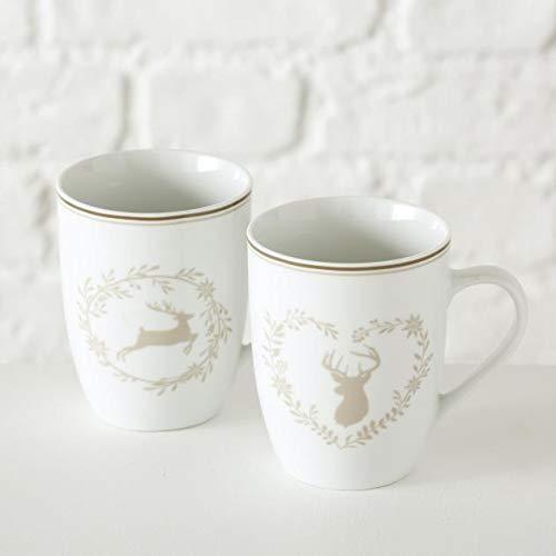 Becher Leopold, 2 sort., 330 ml, Spülmaschinengeeignet, Weiß, Keramik Sortierung: 2 sort.; Keramikart: Porzellan; Breite Artikel: 12 cm; Höhe Artikel: