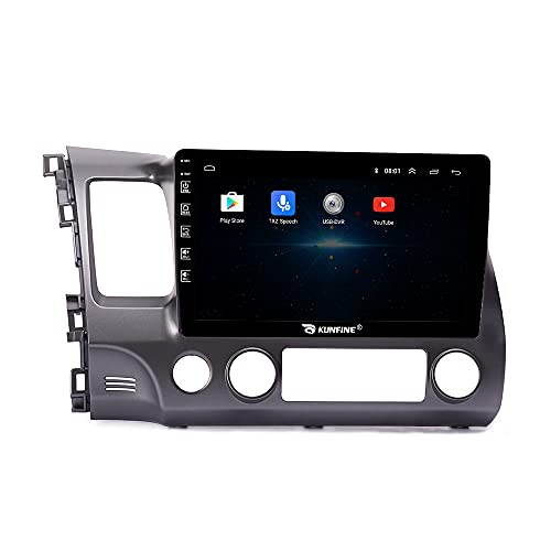 Android 10 Autoradio Car Navigation Stereo Multimedia Player GPS Radio 2.5D IPS Touch Screen for Honda Civic 2004-2011