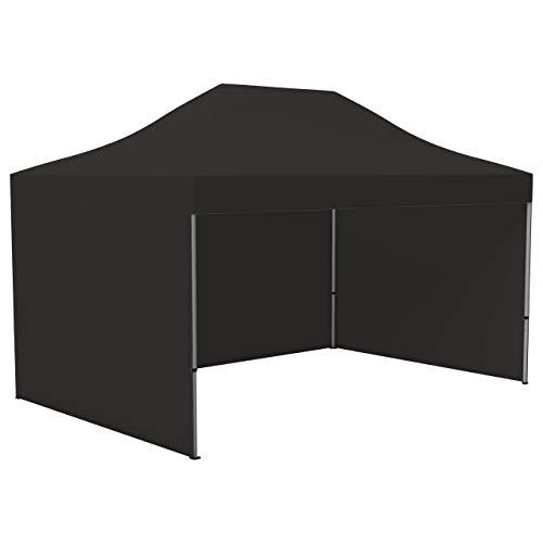 Vispronet Profi Faltpavillon/Faltzelt Basic 3 x 4,5 m, schwarz (3 Zeltwände) - weitere Farben und Größen lieferbar