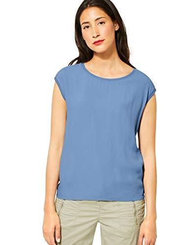 Street One Damen 315181 T-Shirt, Smoky Blue, 38