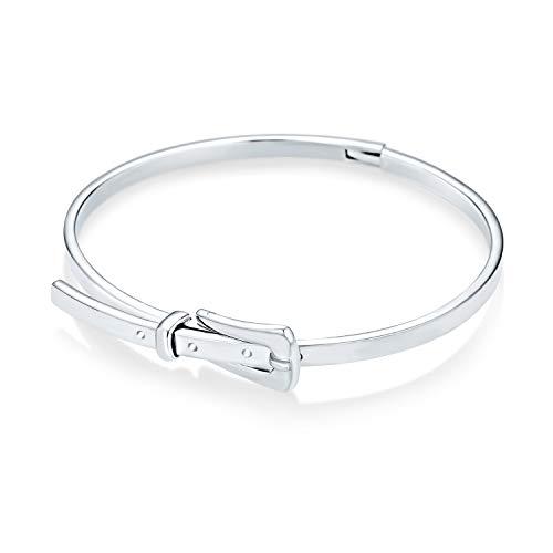 La Hebilla Del Cinturón Brazalete Brazalete Para La Mujer Para Novia Pulido Plata Esterlina 925 Ajustable