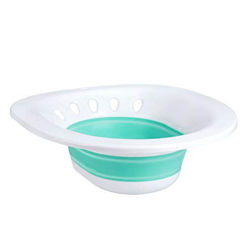 Zafina Sitz Bath for Toilet Seat, Foldable Postpartum Care Basin, Sitz Bath Tub for Soothes and Cleanse Vagina & Anal, Ideal for Post-Episiotomy Patients
