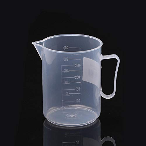 Yauer Tazas de medición de repostería Tazas de medición de plástico de grado alimenticio Hervidores de medición transparentes de cocina 250ml 500ml 250ml