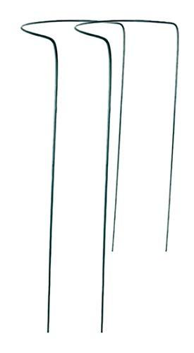 Novatool 2X Strauchstütze   halbrund grün 70x40 cm   Staudenhalter Blumenhalter Rankengewächs Buschstütze Pflanzenstütze Blumenstütze Staudenstütze Rankhilfe Strauchhalter Rosenstütze