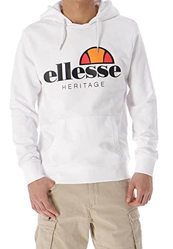 ellesse Herren Fleece Jacke, Bianco, XL
